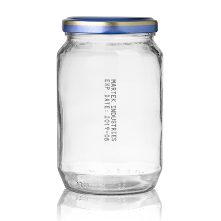 Reiner MP4 black ink on glass jar